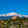 Pikes peak behind the Garden of the Gods, Colorado Springs