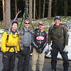 Jim, Mark, Brian, and Dave ready to leave the trailhead at 7AM