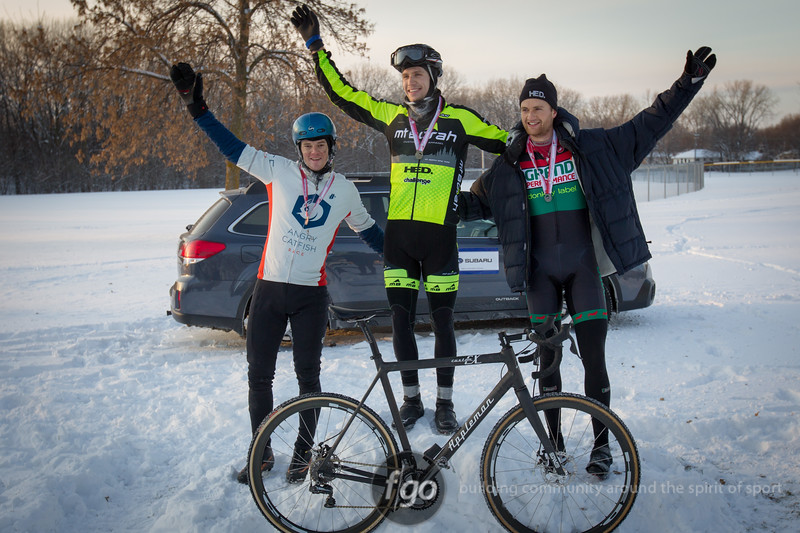 Winners of the Men's Cat 1/2 2013 Minnesota State Cyclocross Championships