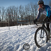 A track guy finishing strong in the Single Speed category at the 2013 Minnesota State Cyclocross Championships