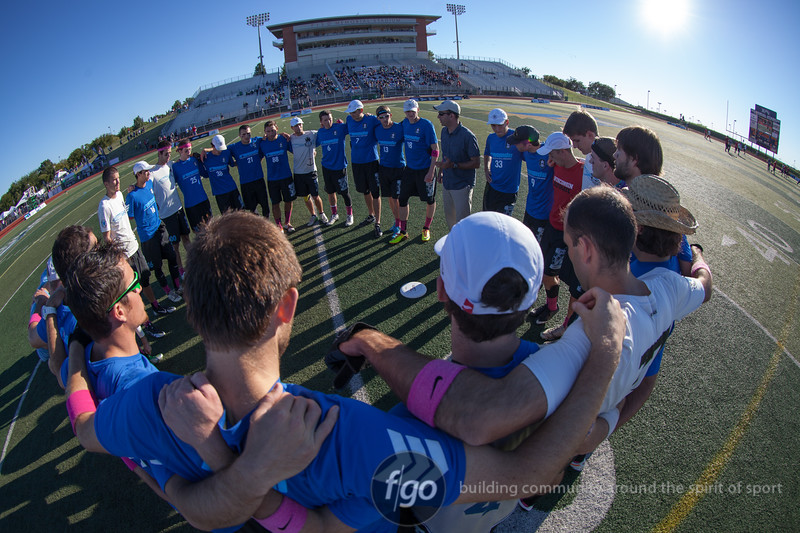 Semi-final Men's Division game at USA Ultimate National Championships in Frisco, Texas - Ironside v Sockeye
