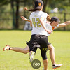 Mexico Catarinas v USA Scandal Women's Division game on Tuesday at WFDF 2014 World Ultimate Club Championships in Lecco, Italy