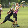 Denmark (Copenhagen) Hucks v USA (Seattle) Riot Division Women's Division game on Tuesday at WFDF 2014 World Ultimate Club Championships in Lecco, Italy