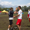USA Drag'N Thrust v Canada Stache Mixed Division game on Wednesday at WFDF 2014 World Ultimate Club Championships in Lecco, Italy