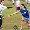 USA Godiva v Japan Sanz Women's Masters Division game on Thursday at WFDF 2014 World Ultimate Club Championships in Lecco, Italy