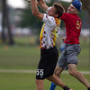 USA Boneyard v Canada Figjam Masters Division championship game on Friday at WFDF 2014 World Ultimate Club Championships in Lecco, Italy