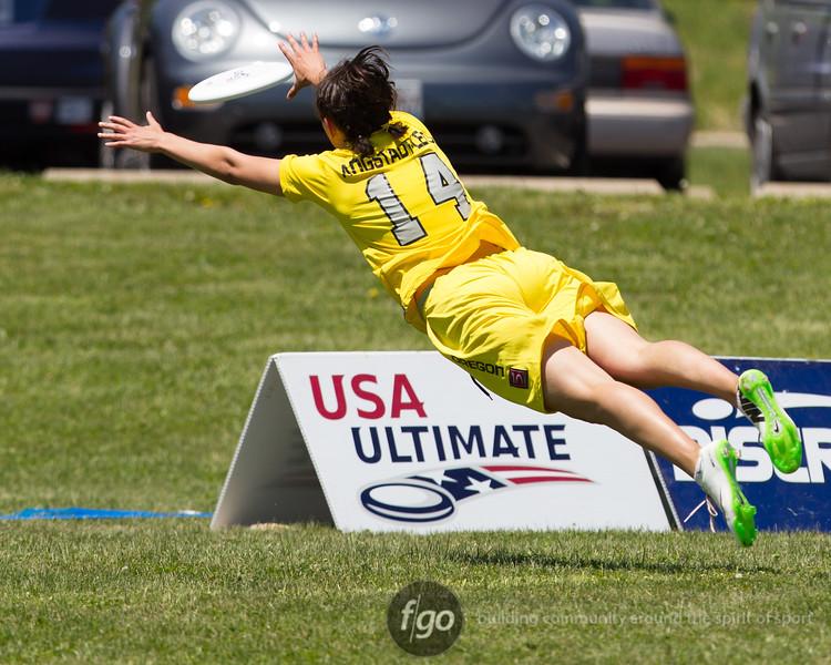 USA Ultimate D1 College Championships in Mason, Ohio - Day 1 Stanford v Oregon