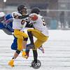 Minneapolis North Polars v Dawson-Boyd Blackjacks at Minnesota State High School League State Class A semi-final football game at Hopkins High School on November 15, 2014