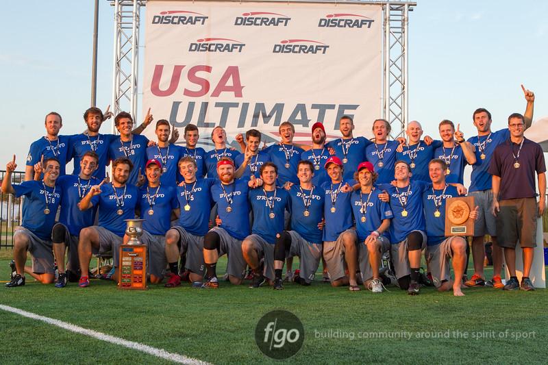 Boston Ironside v Denver Johnny Bravo USA Ultimate Men's Division National Championship in Frisco, Texas on 19 October 2014