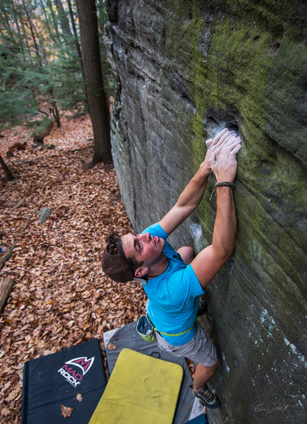 Mountaineers Route_Joey Williams_Coopers Rocks_WV_photos by Gabe DeWitt_October 28, 2014-4