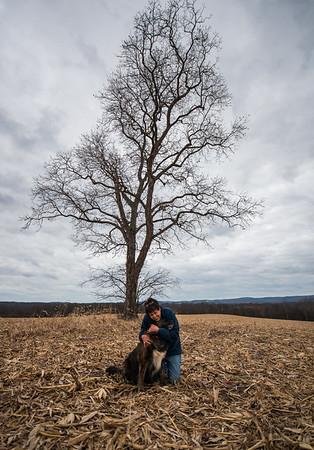 Tara Smith_Tree in a field_West Virginia_photos by Gabe DeWitt_November 30, 2014-51