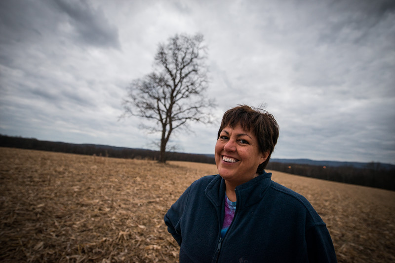 Kathy DeWitt_my mom_Tree in a field_West Virginia_photos by Gabe DeWitt_November 30, 2014-6