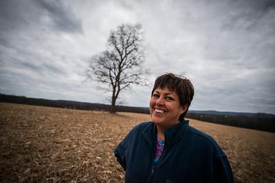 Kathy DeWitt_my mom_Tree in a field_West Virginia_photos by Gabe DeWitt_November 30, 2014-6