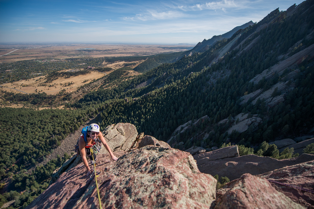 the; 3rd; Flat; Iron; Boulder; 262; Adventure; Adventure Photography; Boulder; CO; Colorado; Favorite things; Flat Irons; Gabe DeWitt; October; People; Places; Rock Climbing; Tara Smith; adventure sports; climbers; climbing; rocks