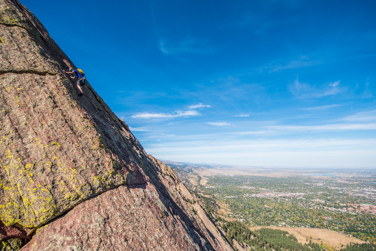 the; 3rd; Flat; Iron; Boulder; 245; Adventure; Adventure Photography; Alex Zachrel; Boulder; CO; Colorado; Favorite things; Flat Irons; Gabe DeWitt; October; People; Places; Rock Climbing; adventure sports; climbers; climbing; rocks