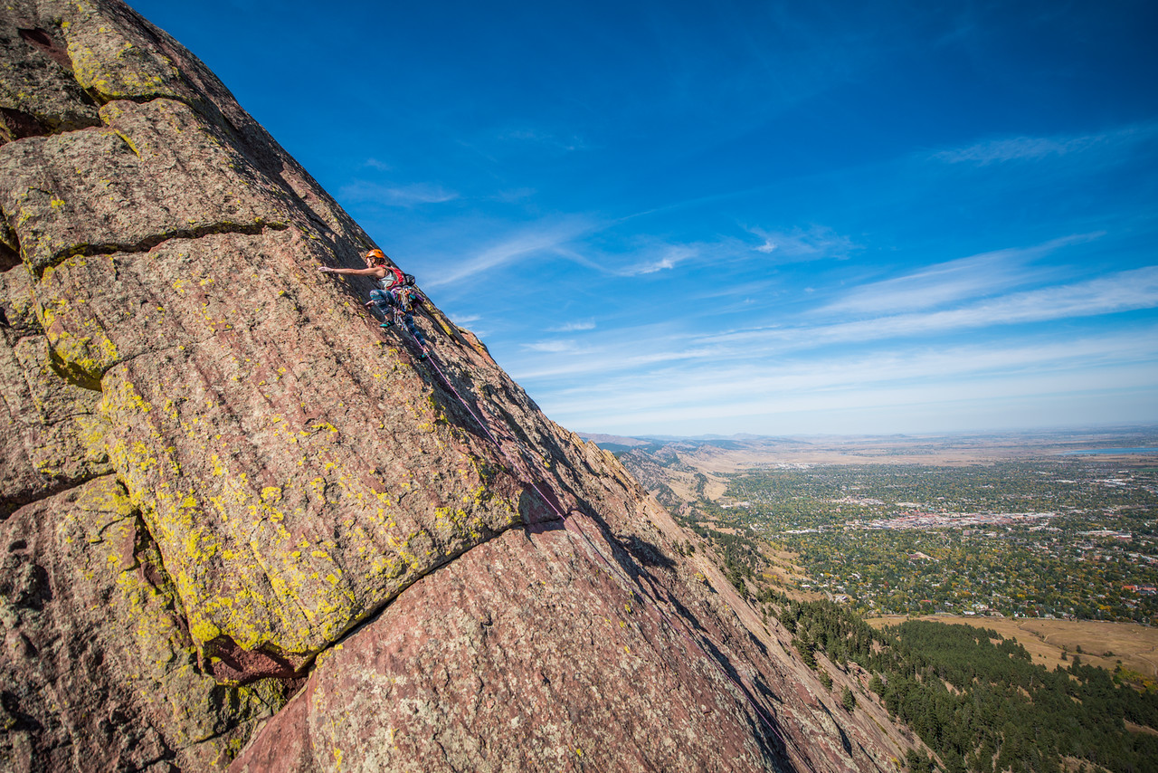 Climbing in Colorado, Adventure; Adventure Photography; Boulder; CO; Colorado; Favorite things; Flat Irons; Gabe DeWitt; October; People; Places; Rock Climbing; adventure sports; climbers; climbing; rocks