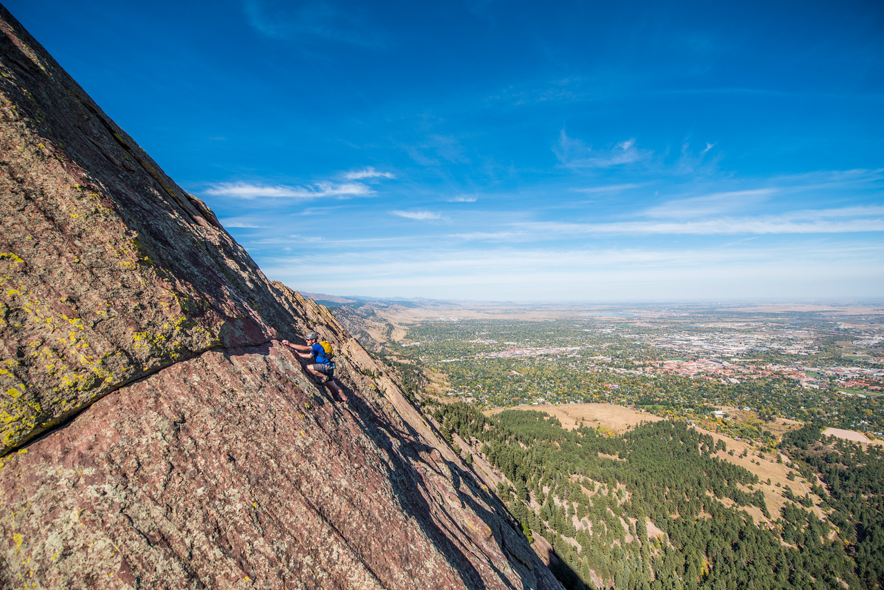 the; 3rd; Flat; Iron; Boulder; 228; Adventure; Adventure Photography; Alex Zachrel; Boulder; CO; Colorado; Favorite things; Flat Irons; Gabe DeWitt; October; People; Places; Rock Climbing; adventure sports; climbers; climbing; rocks