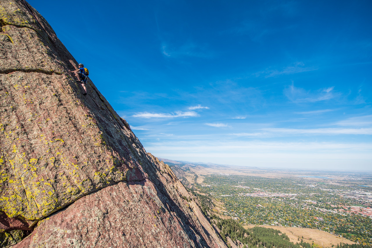the; 3rd; Flat; Iron; Boulder; 247; Adventure; Adventure Photography; Alex Zachrel; Boulder; CO; Colorado; Favorite things; Flat Irons; Gabe DeWitt; October; People; Places; Rock Climbing; adventure sports; climbers; climbing; rocks
