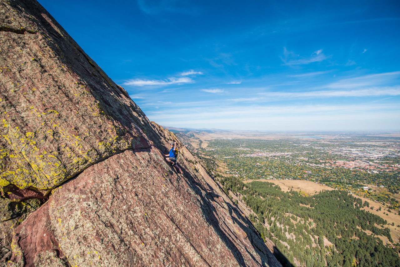the; 3rd; Flat; Iron; Boulder; 226; Adventure; Adventure Photography; Alex Zachrel; Boulder; CO; Colorado; Favorite things; Flat Irons; Gabe DeWitt; October; People; Places; Rock Climbing; adventure sports; climbers; climbing; rocks