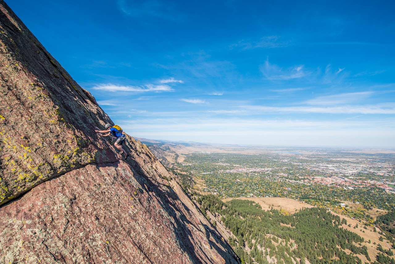 the; 3rd; Flat; Iron; Boulder; 238; Adventure; Adventure Photography; Alex Zachrel; Boulder; CO; Colorado; Favorite things; Flat Irons; Gabe DeWitt; October; People; Places; Rock Climbing; adventure sports; climbers; climbing; rocks