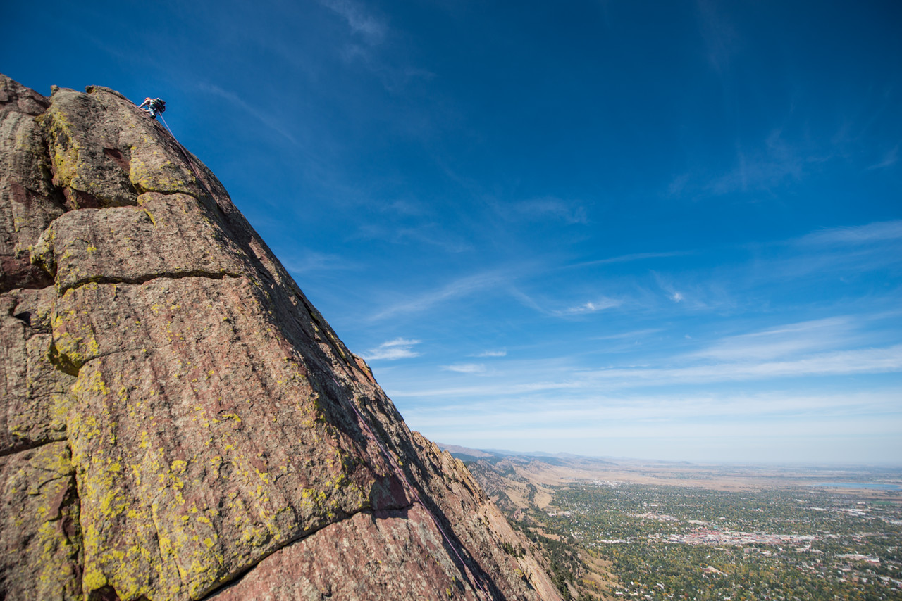 the; 3rd; Flat; Iron; Boulder; 173; Adventure; Adventure Photography; Boulder; Brittany Armentrout; CO; Colorado; Favorite things; Flat Irons; Gabe DeWitt; October; People; Places; Rock Climbing; adventure sports; climbers; climbing; rocks