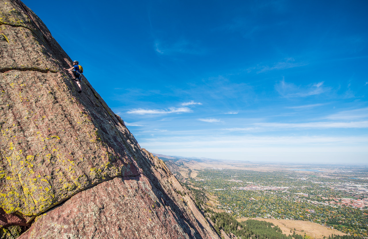 the; 3rd; Flat; Iron; Boulder; 248; Adventure; Adventure Photography; Alex Zachrel; Boulder; CO; Colorado; Favorite things; Flat Irons; Gabe DeWitt; October; People; Places; Rock Climbing; adventure sports; climbers; climbing; rocks