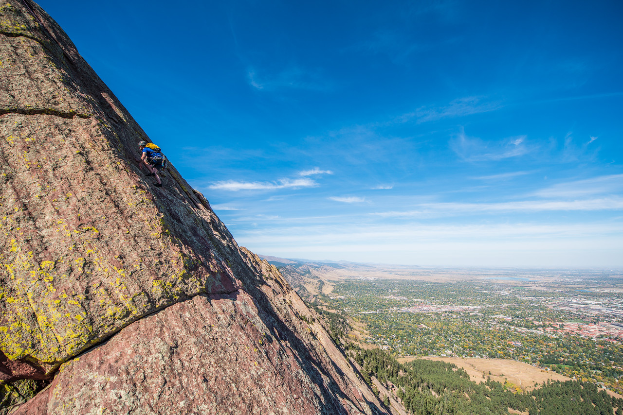 the; 3rd; Flat; Iron; Boulder; 244; Adventure; Adventure Photography; Alex Zachrel; Boulder; CO; Colorado; Favorite things; Flat Irons; Gabe DeWitt; October; People; Places; Rock Climbing; adventure sports; climbers; climbing; rocks