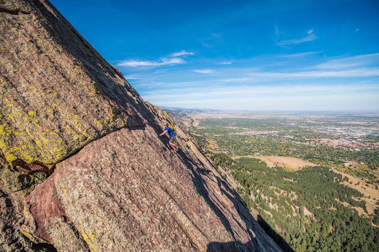 the; 3rd; Flat; Iron; Boulder; 224; Adventure; Adventure Photography; Alex Zachrel; Boulder; CO; Colorado; Favorite things; Flat Irons; Gabe DeWitt; October; People; Places; Rock Climbing; adventure sports; climbers; climbing; rocks