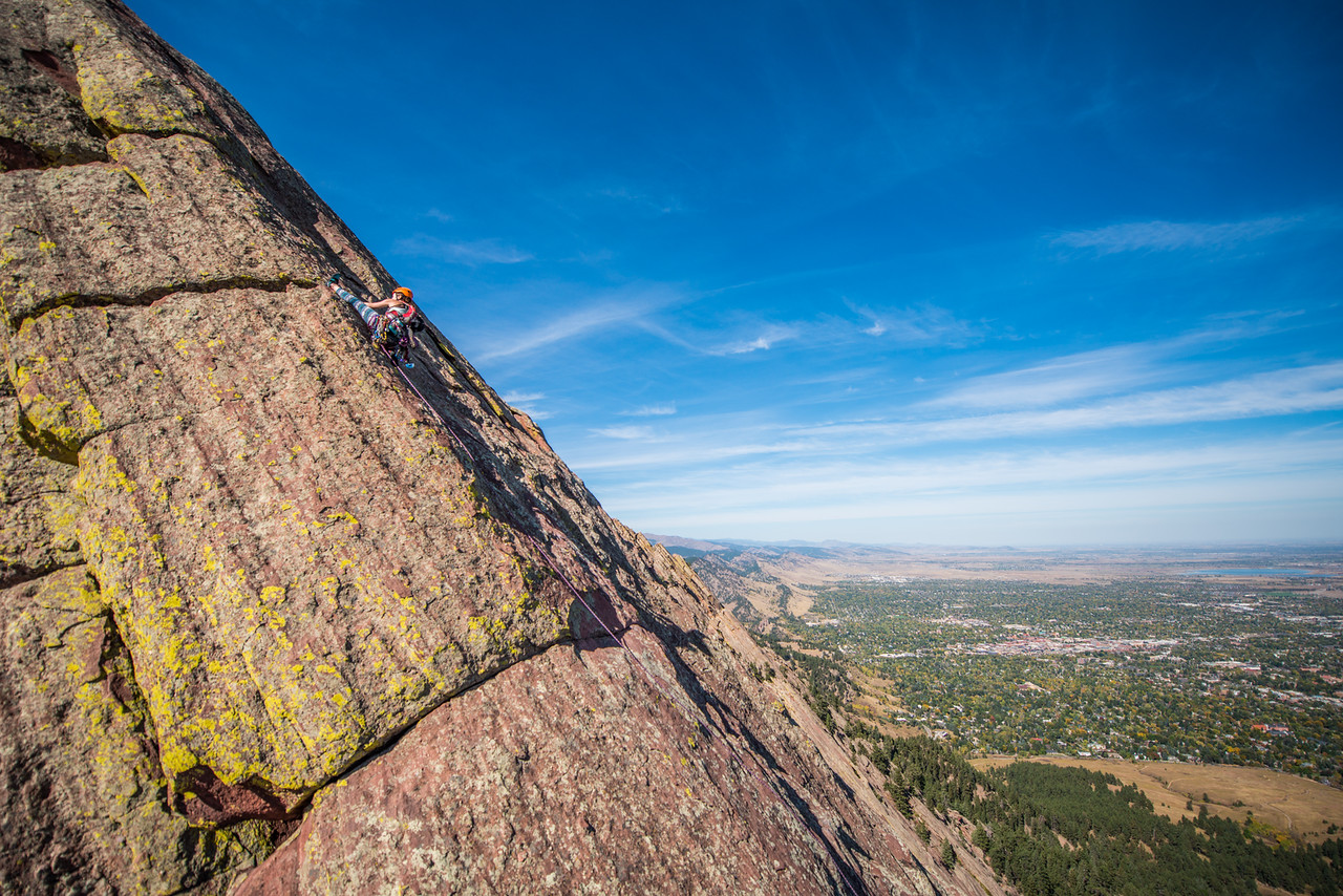Adventure; Adventure Photography; Boulder; CO; Colorado; Favorite things; Flat Irons; Gabe DeWitt; October; People; Places; Rock Climbing; adventure sports; climbers; climbing; rocks