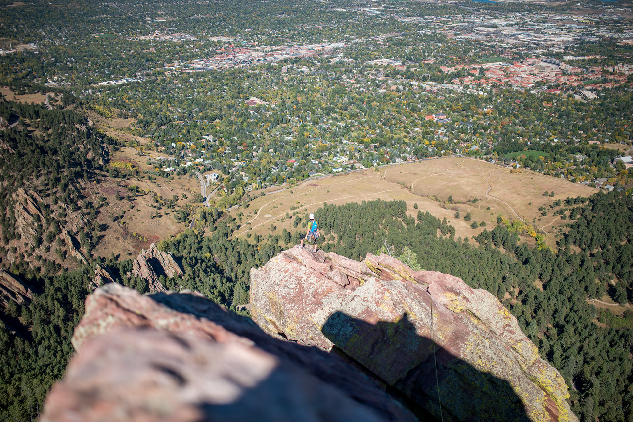 Climbing in Colorado, Flat Irons; Boulder; Colorado; Adventure; Boulder; Colorado; Gabe DeWitt; October; Places; Tara Smith; adventure sports