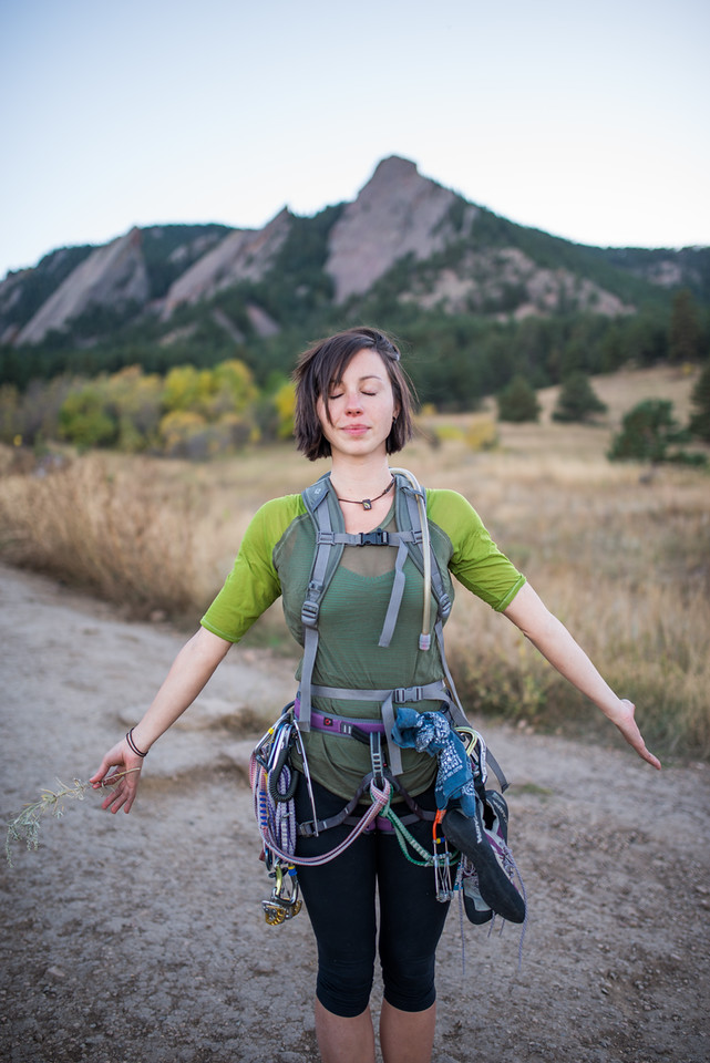 Flat; Irons; Boulder; Colorado; 101; Adventure; Boulder; Colorado; Female model; Gabe DeWitt; Girl; Model; October; People; Places; Tara Smith; adventure sports; person; portrait