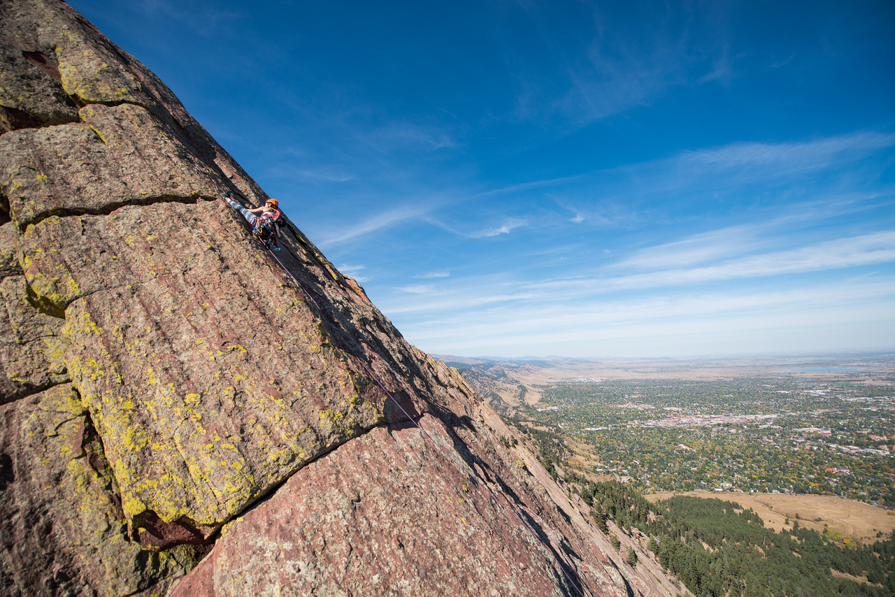 the; 3rd; Flat; Iron; Boulder; 116; Adventure; Adventure Photography; Boulder; CO; Colorado; Favorite things; Flat Irons; Gabe DeWitt; October; People; Places; Rock Climbing; adventure sports; climbers; climbing; rocks, Climbing in Colorado