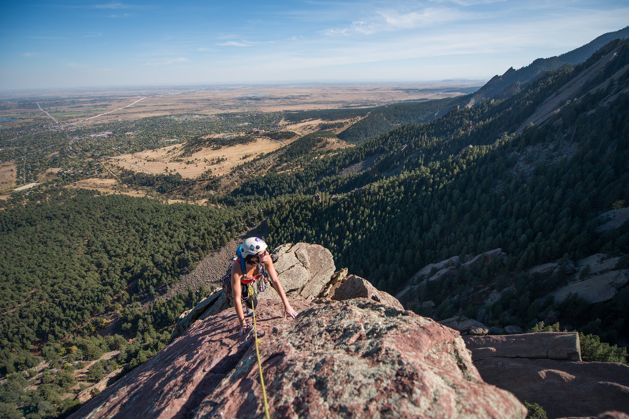 the; 3rd; Flat; Iron; Boulder; 265; Adventure; Adventure Photography; Boulder; CO; Colorado; Favorite things; Flat Irons; Gabe DeWitt; October; People; Places; Rock Climbing; Tara Smith; adventure sports; climbers; climbing; rocks