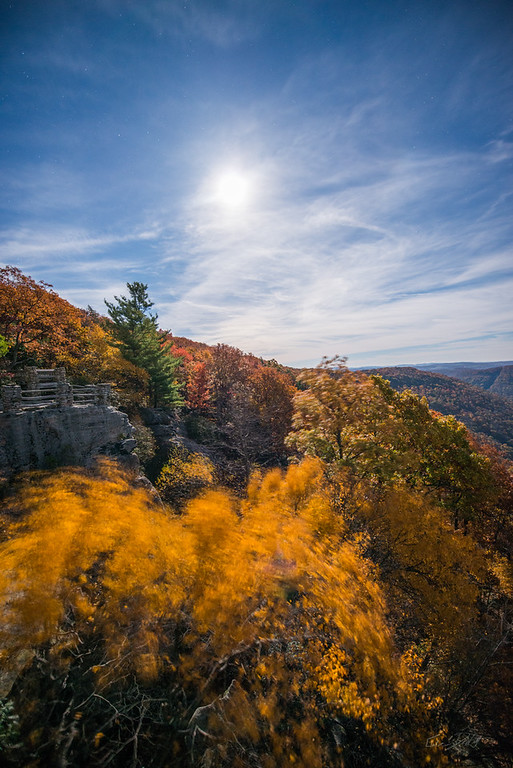 Moonlight; Autumn; Coopers; Rock; Autumn; Coopers Rock; Favorite things; Gabe DeWitt; Places; Seasons; Stars; WV; West Virginia; fall; leaves; moon; moonlight; space
