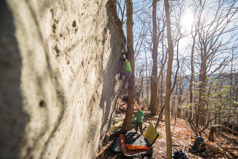 Warm-December-Day-Climbing-Bouldering-Coopers-Rock-WV-87