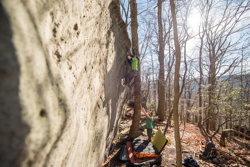 Warm-December-Day-Climbing-Bouldering-Coopers-Rock-WV-88