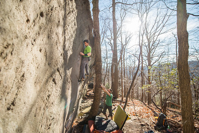 Warm-December-Day-Climbing-Bouldering-Coopers-Rock-WV-53
