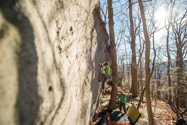 Warm-December-Day-Climbing-Bouldering-Coopers-Rock-WV-73