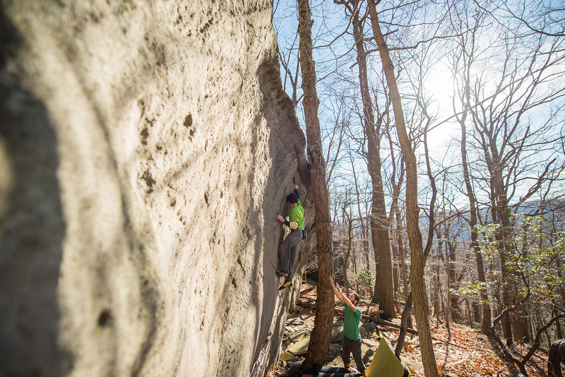 Warm-December-Day-Climbing-Bouldering-Coopers-Rock-WV-76