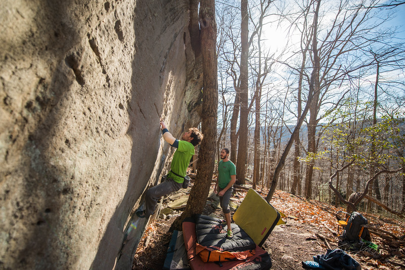 Warm-December-Day-Climbing-Bouldering-Coopers-Rock-WV-42