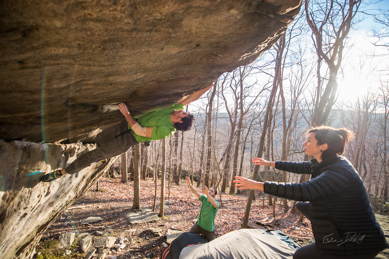 Warm-December-Day-Climbing-Bouldering-Coopers-Rock-WV-119