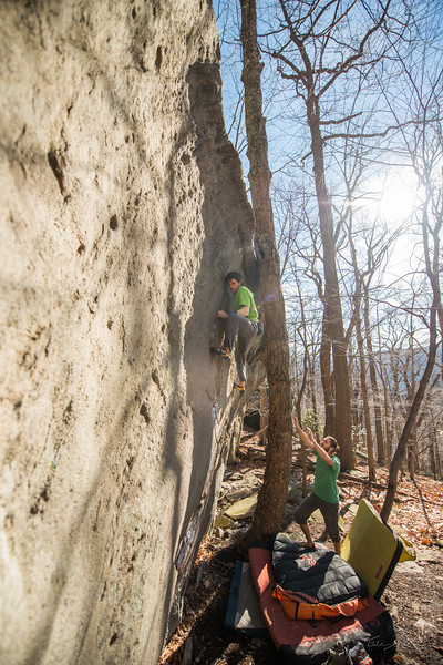Warm-December-Day-Climbing-Bouldering-Coopers-Rock-WV-57