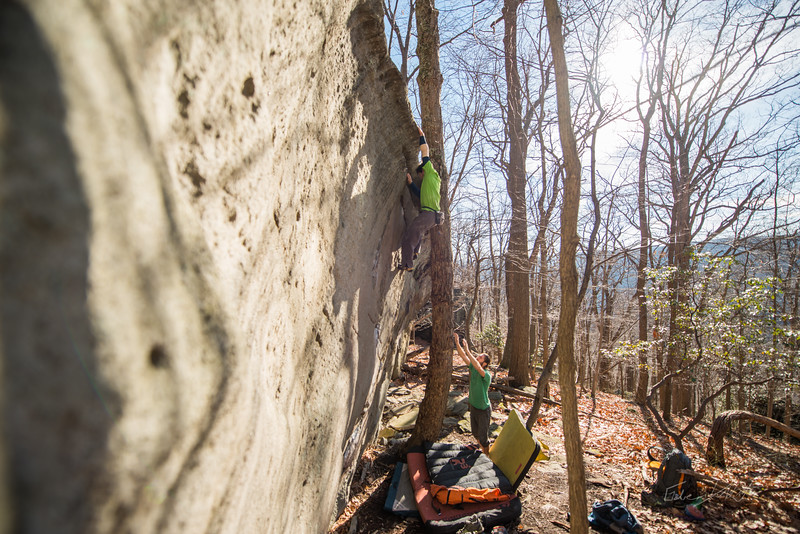 Warm-December-Day-Climbing-Bouldering-Coopers-Rock-WV-90