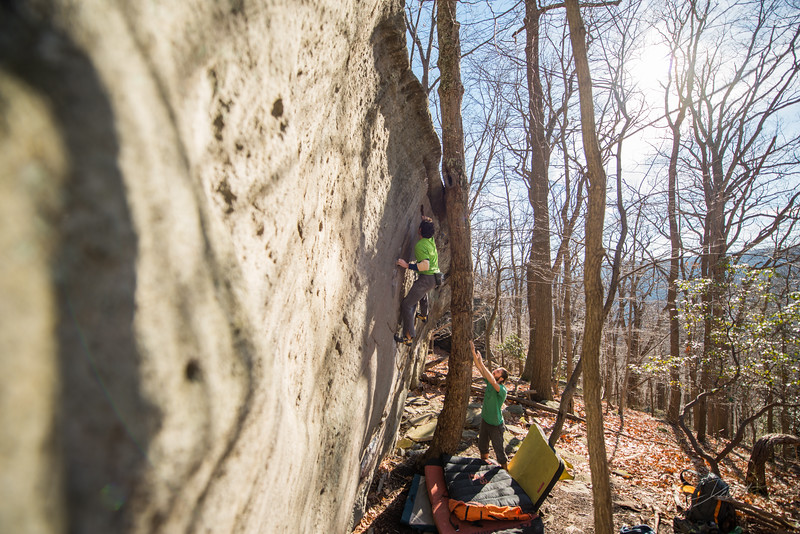 Warm-December-Day-Climbing-Bouldering-Coopers-Rock-WV-78
