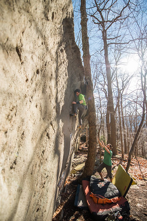 Warm-December-Day-Climbing-Bouldering-Coopers-Rock-WV-58