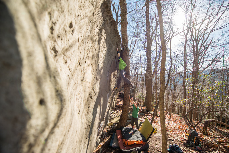 Warm-December-Day-Climbing-Bouldering-Coopers-Rock-WV-82