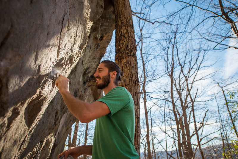 Warm-December-Day-Climbing-Bouldering-Coopers-Rock-WV-19