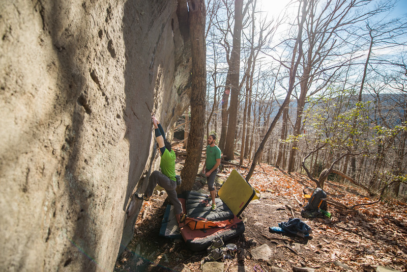 Warm-December-Day-Climbing-Bouldering-Coopers-Rock-WV-41