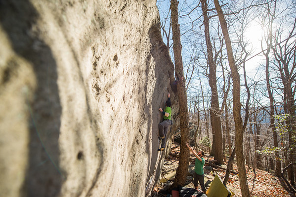 Warm-December-Day-Climbing-Bouldering-Coopers-Rock-WV-74