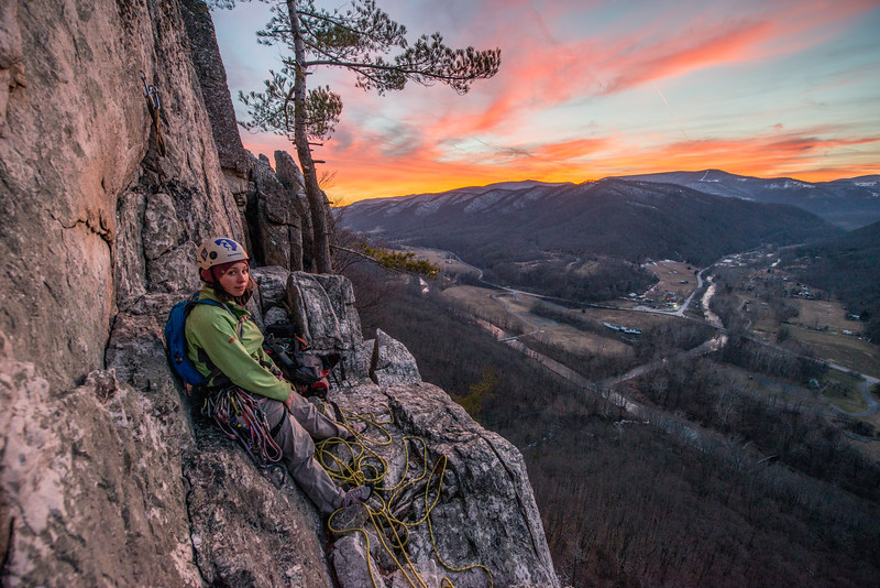 Climbing_Seneca Rocks_West Virginia_photo by Gabe DeWitt_February 07, 2015-163